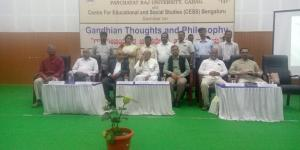 CESS Team & Guests in Seminar on Gandhian Thoughts and Philosophy