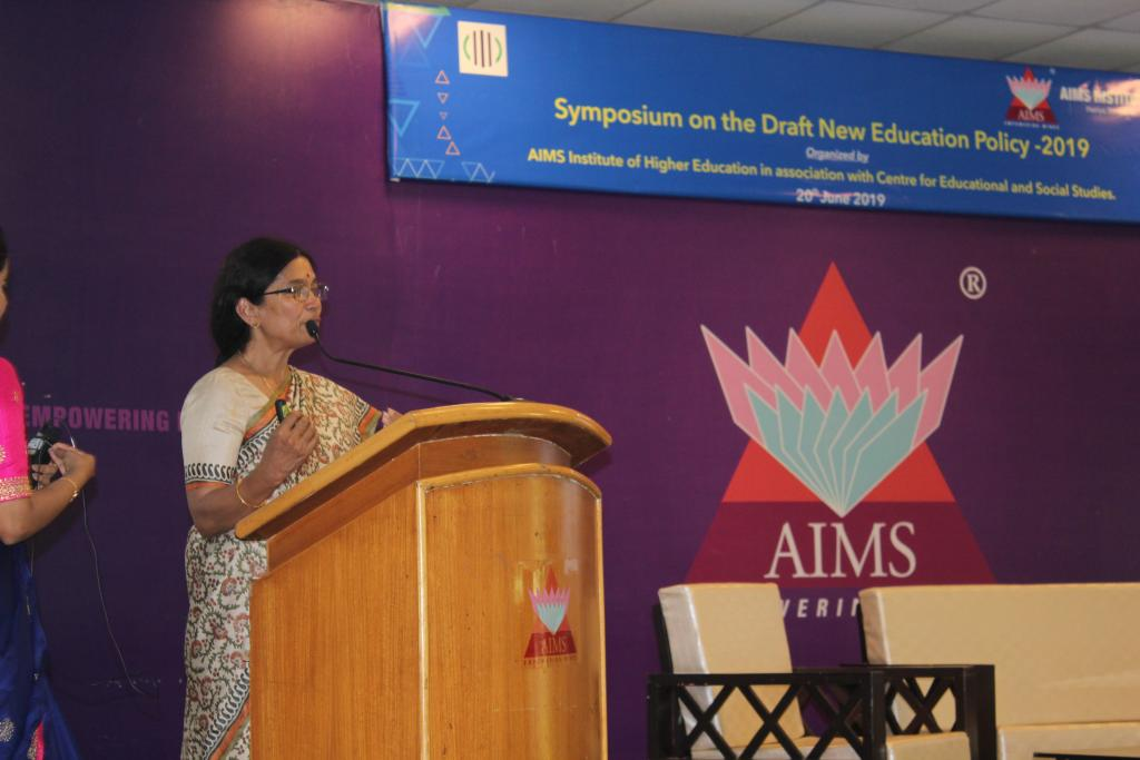 Symposium on draft National Education Policy 2019 held at AIMS, Bengaluru